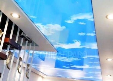 Матовый натяжной потолок с изображением неба НП-1014