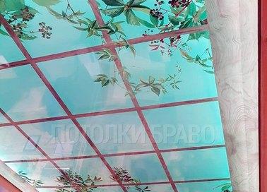 Матовый джунгли в окне натяжной потолок НП-1053 - фото 2