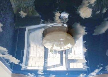 Матовый небесный натяжной потолок НП-1060 - фото 2