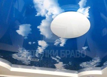 Матовый небесный натяжной потолок НП-1060