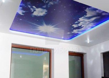 Матовый звездное небо натяжной потолок НП-1062 - фото 2
