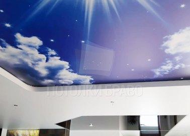 Матовый звездное небо натяжной потолок НП-1062 - фото 3