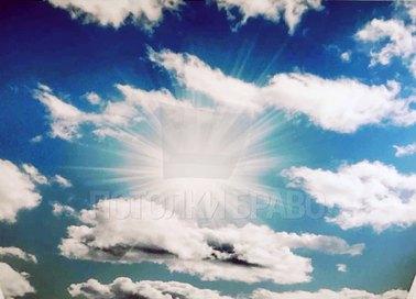 Матовый небесный натяжной потолок НП-1065