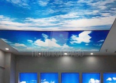 Сложный небесный натяжной потолок НП-1066
