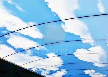 Небесный натяжной потолок в форме купола НП-1077