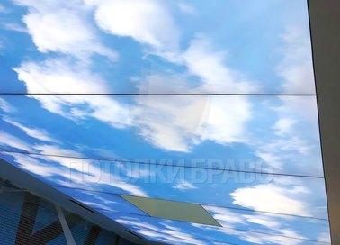 Матовый небесный натяжной потолок для бассейна НП-1084 - фото 2