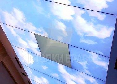 Матовый небесный натяжной потолок для бассейна НП-1084 - фото 3