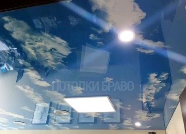 Зеркальный небесный натяжной потолок НП-1106