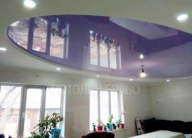 Матовый натяжной потолок с лавандовым оттенком НП-1114