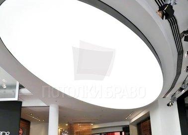 Объемный матовый натяжной потолок для ресторана НП-1115