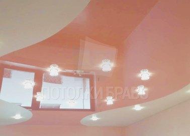 Розовый глянцевый натяжной потолок НП-1119