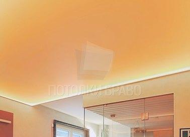 Желтый матовый натяжной потолок для ванной комнаты НП-1120
