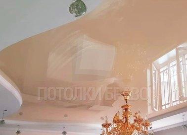 Бежевый волнообразный натяжной потолок НП-1121
