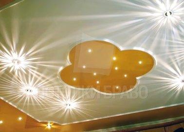 Яркий бежево-желтый натяжной потолок НП-1123 - фото 2