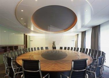 Современный круглый натяжной потолок для офиса НП-1128