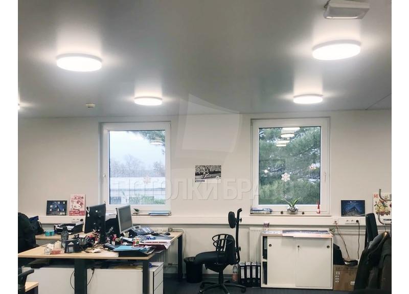 Белый матовый натяжной потолок для офиса НП-1134 - фото 2