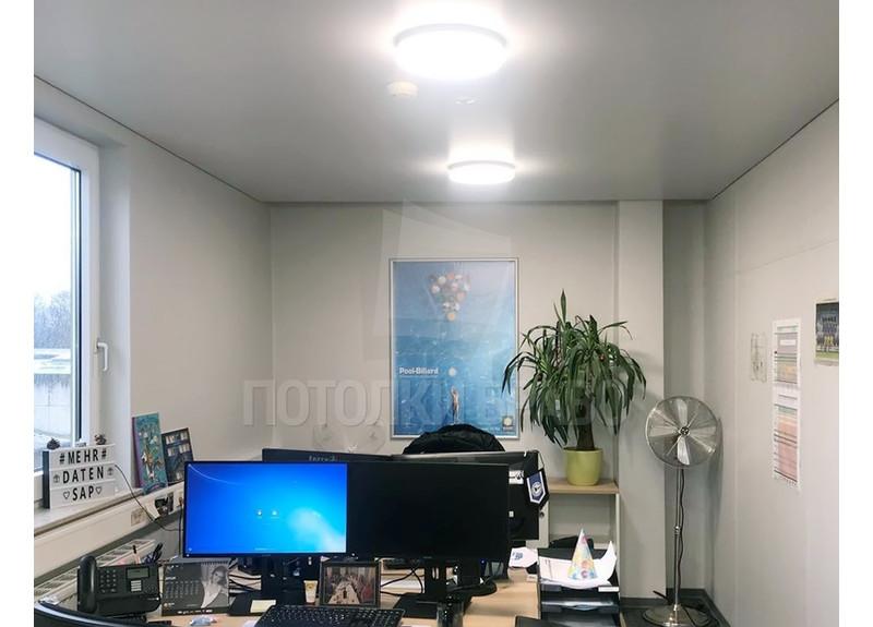 Белый матовый натяжной потолок для офиса НП-1134 - фото 3