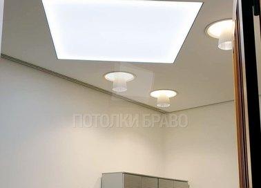 Бежевый фактурный натяжной потолок для офиса НП-1136