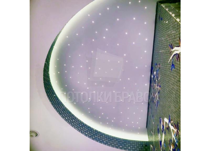 Полукруглый матовый натяжной потолок для ванной комнаты НП-1156