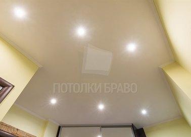 Бежевый матовый натяжной потолок НП-1158