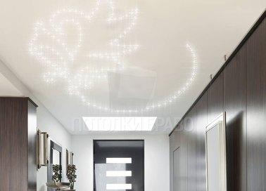 Матовый натяжной потолок с рисунком из светильников НП-1166