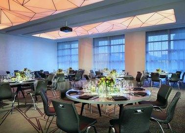 Красивый матовый натяжной потолок для ресторана НП-1204