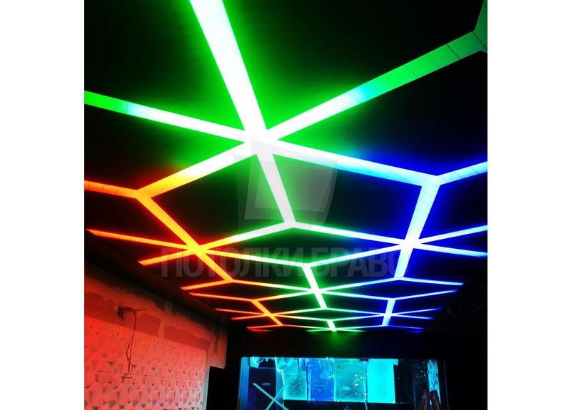 Разноцветный матовый натяжной потолок для ресторана НП-1210 - фото 2