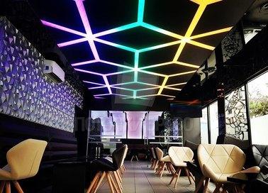 Разноцветный матовый натяжной потолок для ресторана НП-1210