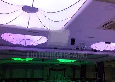 Матовый натяжной потолок с выпуклой фигурой для ресторана НП-1216