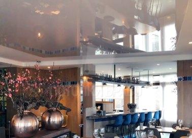 Матовый-глянцевый натяжной потолок для шикарного ресторана НП-1223