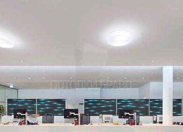 Матовый белый натяжной потолок для офиса НП-1225