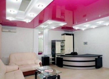 Темно-розовый натяжной потолок с точечной подсветкой НП-1233 - фото 2