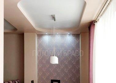 Объемный двухцветный матовый натяжной потолок НП-1235