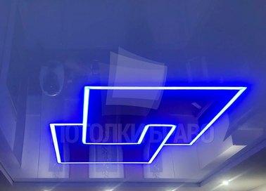 Матовый натяжной потолок с геометрической подсветкой НП-1255 - фото 2