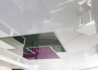 Матовый натяжной потолок с геометрической подсветкой НП-1255 - фото 3