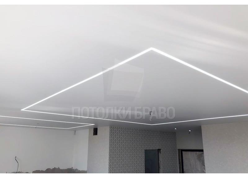 Матовый натяжной потолок с диодной лентой НП-1257 - фото 2