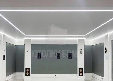 Сатиновый натяжной потолок с подсветкой НП-1268