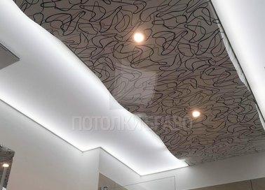 Абстрактный матовый натяжной потолок НП-1279