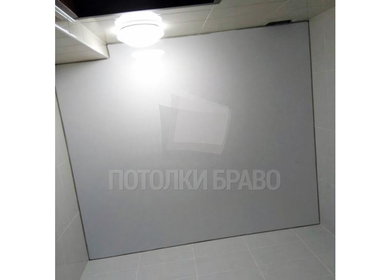 Матовый натяжной потолок для ванной комнаты НП-1285