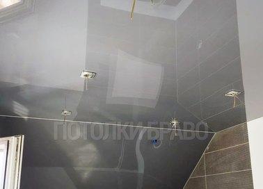 Серый глянцевый натяжной потолок НП-1288