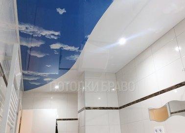 Сатиновый натяжной потолок с волной НП-1290