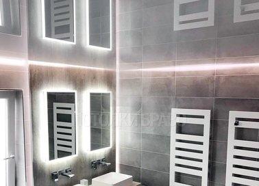 Серый зеркальный натяжной потолок НП-1300