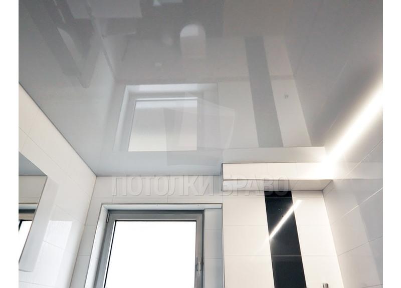 Глянцевый с диодной лентой в ванну натяжной потолок НП-1313