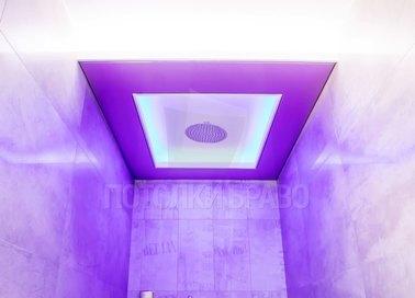 Матовый фиолетовый в туалет натяжной потолок НП-1314