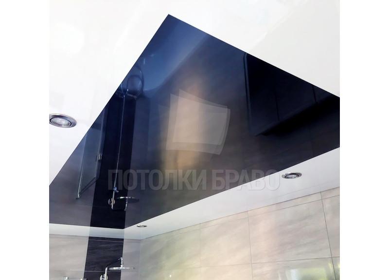 Черно-белый натяжной потолок с LED-подсветкой НП-1337 - фото 2