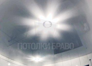 Небесный глянцевый натяжной потолок для комнаты НП-1381