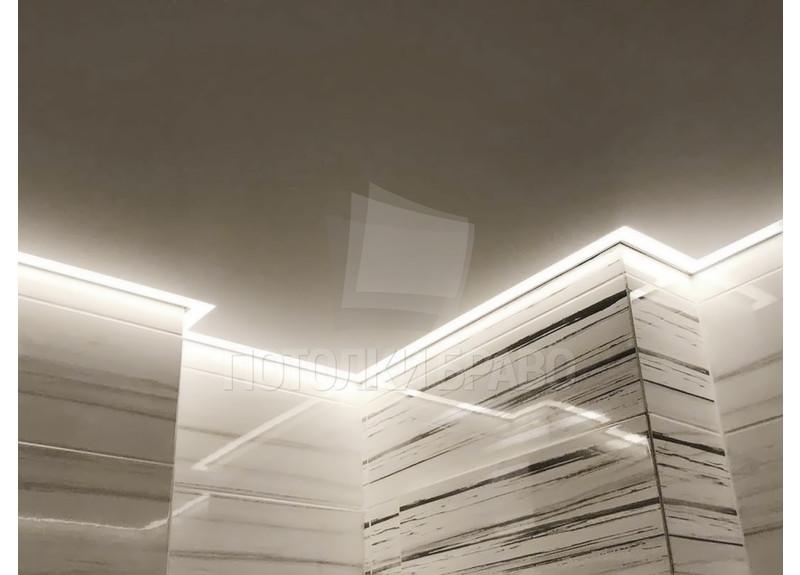 Современный серый матовый натяжной потолок НП-1393 - фото 3