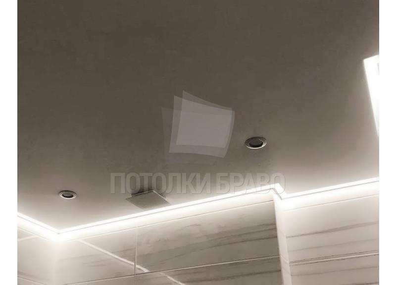 Современный серый матовый натяжной потолок НП-1393 - фото 4