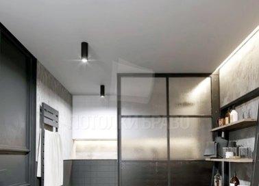 Серый матовый натяжной потолок в стиле Хай-Тек НП-1399