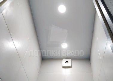 Матовый натяжной потолок для стандартного туалета НП-1429